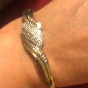 14k gold/ silver Jewelry - Lady bracelet 16.31 grams material 14k / silver